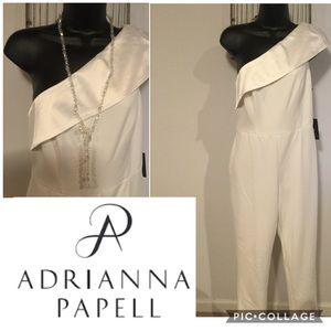 Adrianna Papell One Shoulder Jump Suit